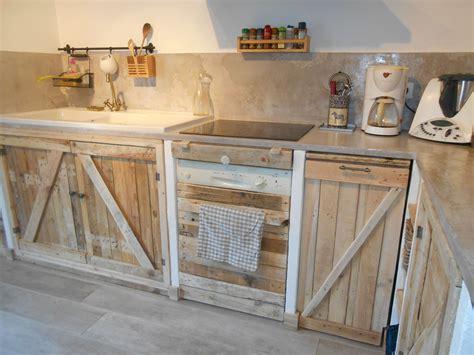 cuisine avec palettes meubles palette en 2018
