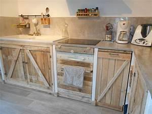 Acheter Meuble En Palette Bois : cuisine avec palettes meubles palette pinterest ~ Premium-room.com Idées de Décoration