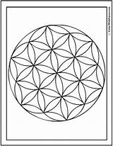 Geometric Coloring Pages Circles Sheet Fun Flower Circle Flowers Designs Printable Circular Overlapping Print Overlap Colorwithfuzzy sketch template