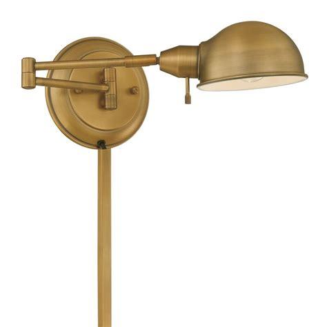 brass swing arm wall l lite source lighting rizzo antique brass swing arm l