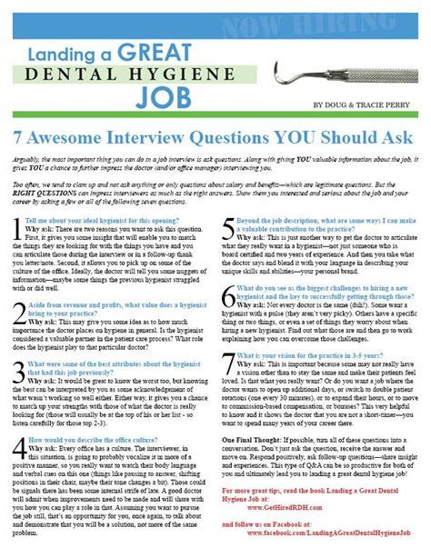 Questions For Dental Assistant by Get This And More At Www Gethiredrdh Landing A Great