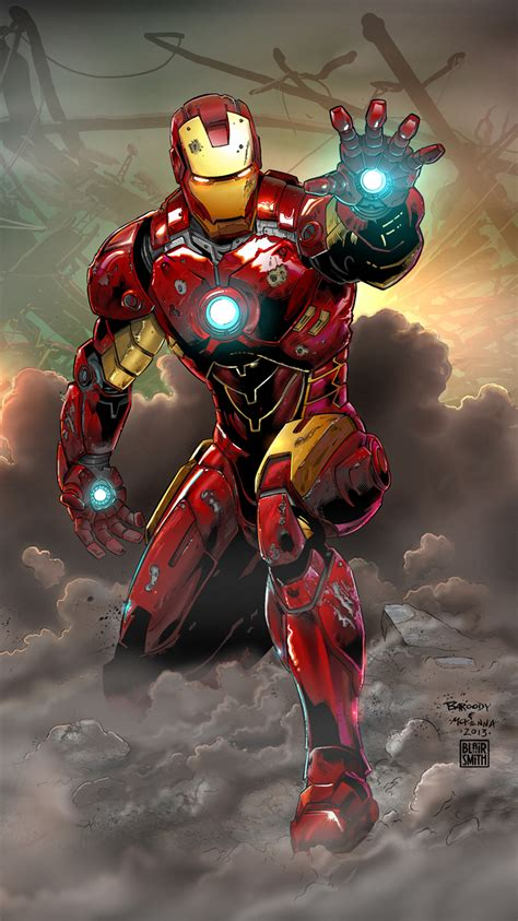 Iron Man Comic Cover Art Pinterest Iron Marvel And