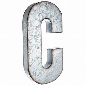 c large galvanized metal letter metals products and With galvanized letter b