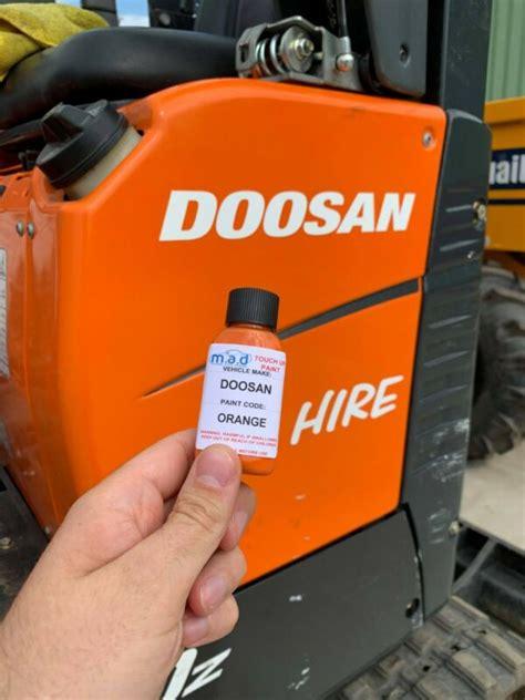 orange touch  paint  doosan dx dx dx  micro