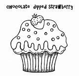 Cupcake Coloring Cupcakes Cup Desenho Birthday Colorir Cake Desenhos Moldes Kek Imagens Strawberry Clipart Muffin Boyama Chocolate Colouring Happy Passo sketch template