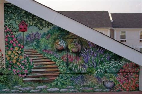 Best 25+ Garden Mural Ideas On Pinterest