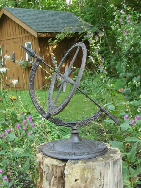 cast iron star armillary sundial mondus distinction