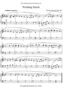 the wedding march mendelssohn wedding march sheet for piano 8notes