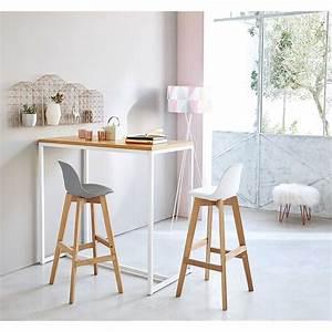 Chaise Scandinave Grise : chaise de bar style scandinave grise et ch ne ice ~ Melissatoandfro.com Idées de Décoration