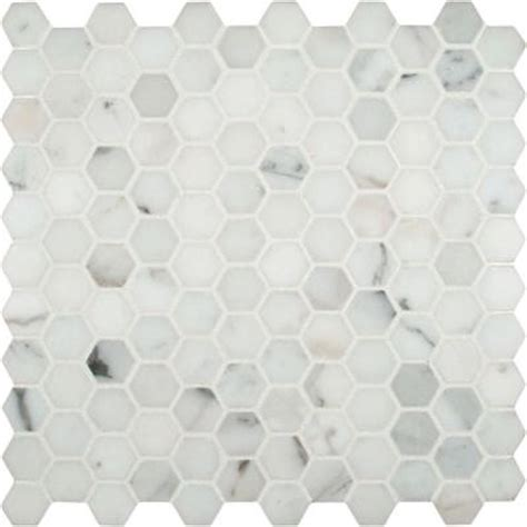 home depot hexagon marble tile ms international calacatta gold hexagon 12 in x 12 in x