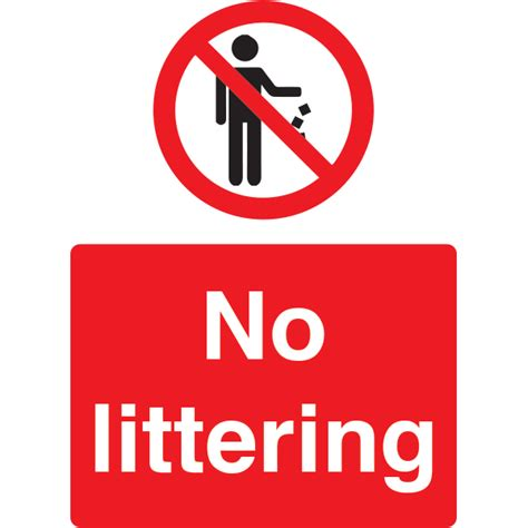 The Gallery For > No Littering Road Sign