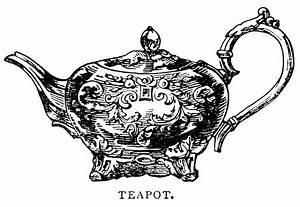Antique Teapot ~ Free Clip Art Illustration | Old Design ...