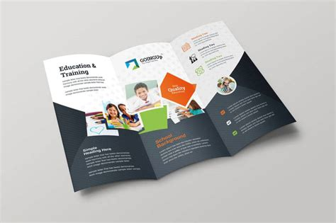 education trifold brochure examples psd ai apple