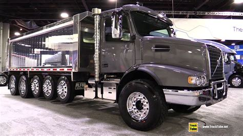 volvo vhd  day cab flat roof dump truck