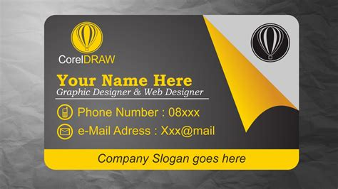 coreldraw tutorials business card design inspiration
