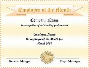 editable employee of the month certificate sample pdf With manager of the month certificate template
