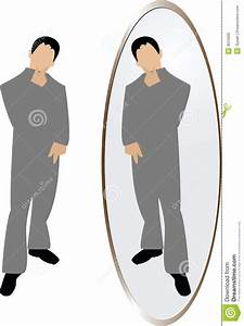 Man thinking in mirror stock vector. Illustration of ...