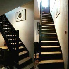 contre marche noire film adhesif autocollant stickers With peindre escalier en bois 7 aide pour la deco et la couleur des murs couloir et cage