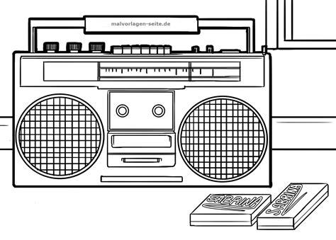 gambar radio untuk mewarnai
