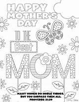 Coloring Pages Mother Mom Pdf Mothers sketch template