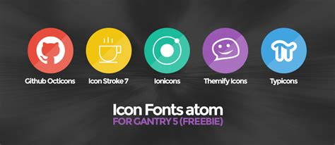 quot icon fonts quot atom for gantry 5 freebie