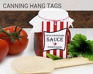 online customizations and printing of favor tags bridal With canning hang tags