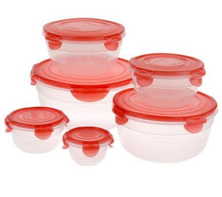lock lock  piece variety bowl storage set  color lids page  qvccom