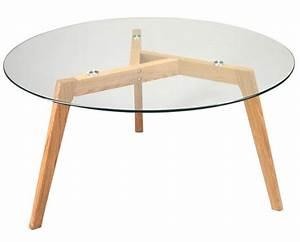 Table Alinea Bois : petite table basse en bois 4 table basse plateau verre ~ Teatrodelosmanantiales.com Idées de Décoration