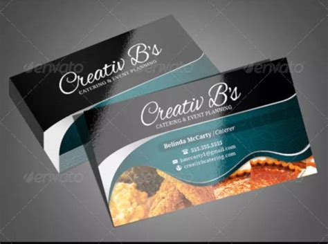 catering business card templates psd word