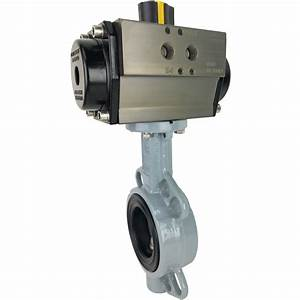 2 2 Air Actuated Butterfly Valve  Wafer  Epdm  Double