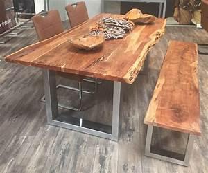 Tisch Aus Holz : tisch esstisch prince massiv holz 180 x 90 cm sitz ess gruppe inkl baumkante in m bel wohnen ~ Watch28wear.com Haus und Dekorationen
