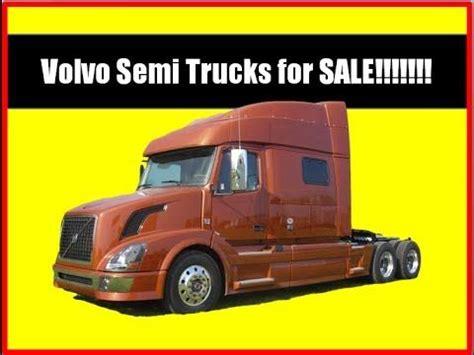 volvo trucks  sale  owner semi trucks  sale