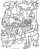 Coloring Camping Printable sketch template