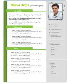 resume template word free 3 free resume templates for microsoft word