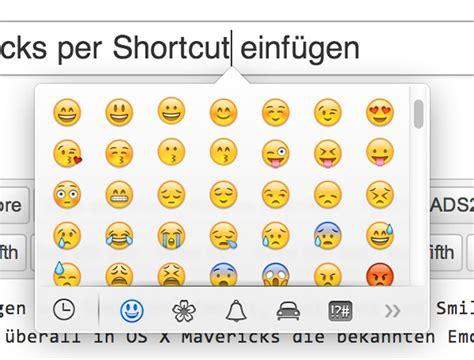 tipp emojis smileys symbole  os  mavericks
