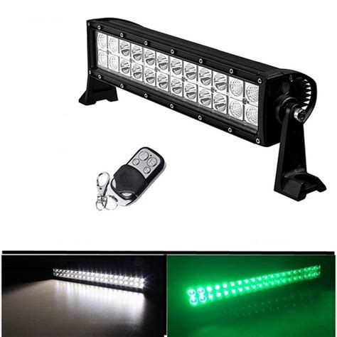 strobe led light bar stv motorsports dual color white green strobe 12 72w
