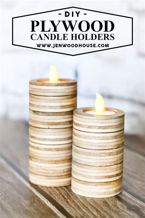diy scrap plywood tea light candle holders diy candle