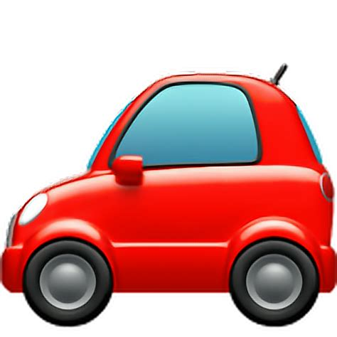 emoji car auto automobile vechicle bus red redcar iphon