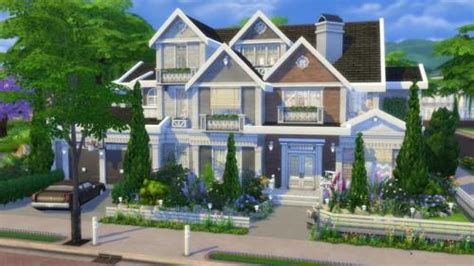 house with wrap around porch sims 4 house nocc