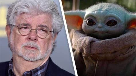 Star Wars: George Lucas Holds Baby Yoda in New Behind-the ...