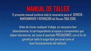 Nissan Tiida 2008  Manual De Taller