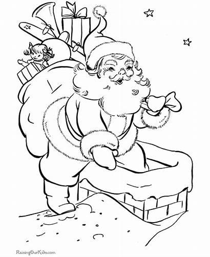 Santa Coloring Pages Claus Christmas Printable Bag