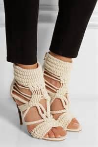 Balmain Cotton Braided Heels