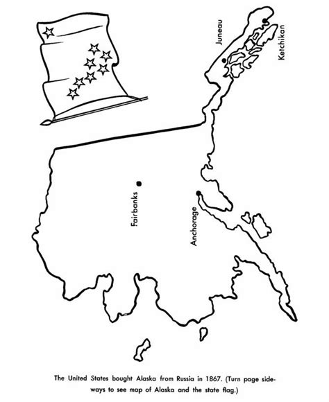 alaska map coloring page coloring home
