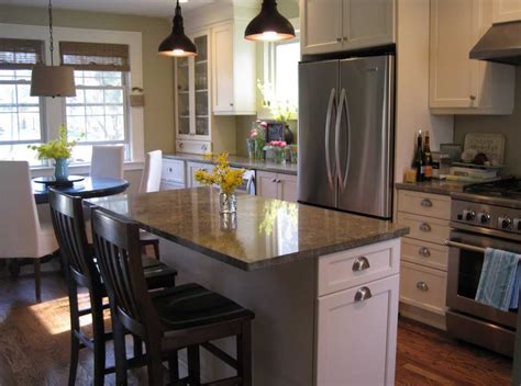small kitchen layouts with island how to design a small kitchen with seating and dining room