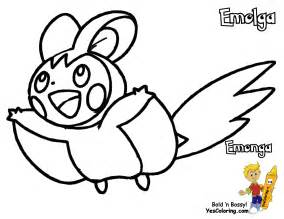 Pokemon Emolga Coloring Pages