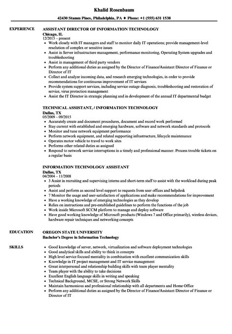 Objective For Information Technology Resume by 10 Information Technology Resume Objective Sle
