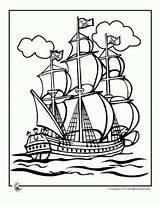 Coloring Pirate Ship Pages Boys Plank Tall Walking sketch template