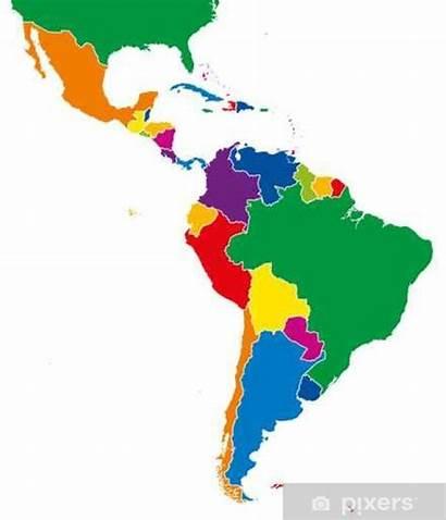 America Latin Map Latina Amerika Mappa Stati