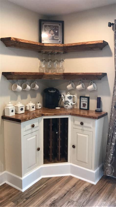 Kitchen Corner Bar Ideas corner bar wine rack tea coffee home stuff in 2019